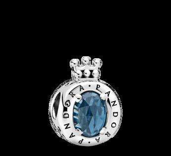藍色璀璨 O 字形冠冕串飾