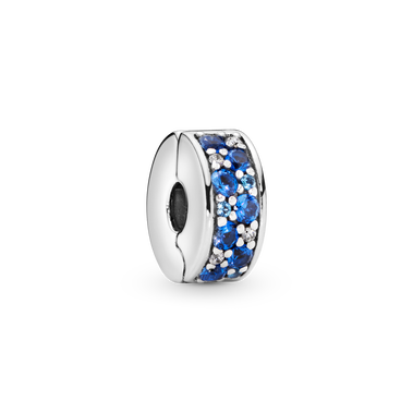 Blue Pavé Clip Charm