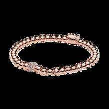 珠飾配密鑲寶石手鏈