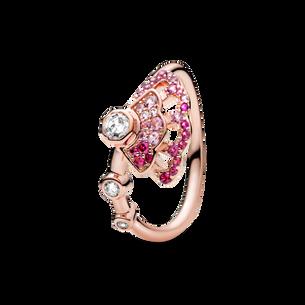 粉紅摺扇戒指