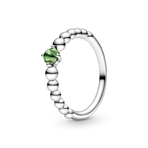 翠綠寶石圓珠戒指
