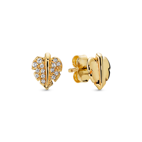 Shining & Sparkling Leaf Stud Earrings