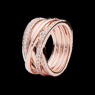 Sparkling & Polished Lines Ring