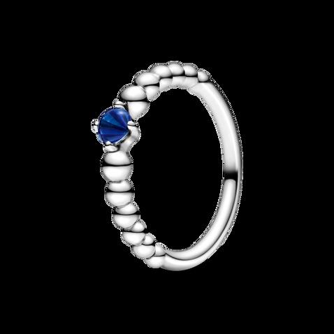 海藍寶石圓珠戒指