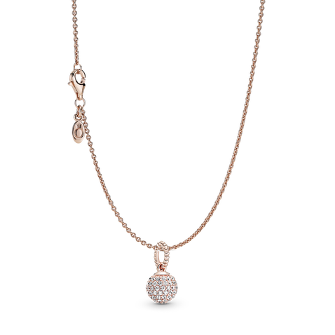 Pavé Ball Necklace Set