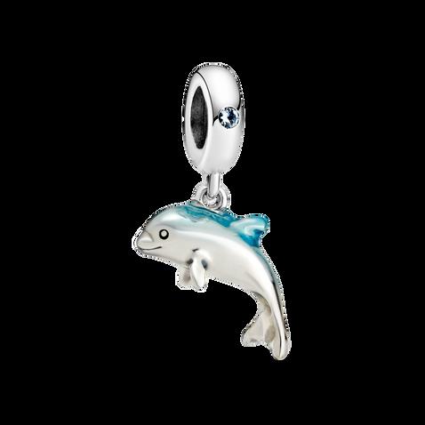 閃爍海豚吊飾