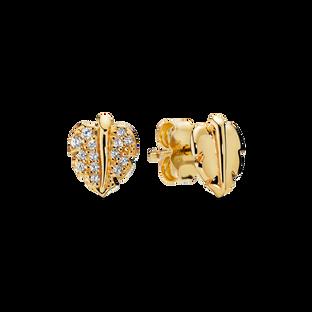 閃爍璀璨葉片針式耳環