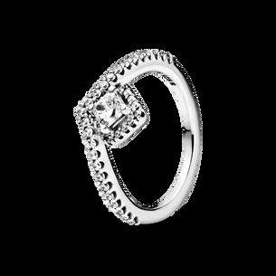 方形寶石許願骨戒指