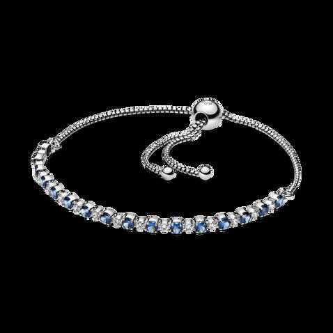 透明配藍色璀璨 滑扣手鏈