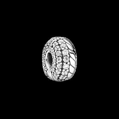 Pavé Snake Chain Pattern Clip Charm