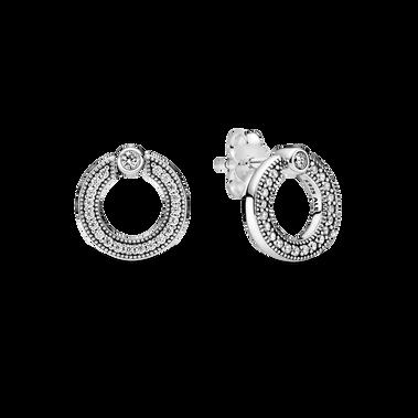 圓形雙面針式耳環