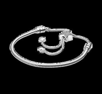 Pandora Moments 密鑲星星滑扣蛇鏈手鏈
