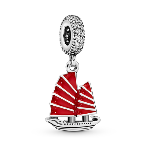 Chinese Junk Ship Dangle Charm