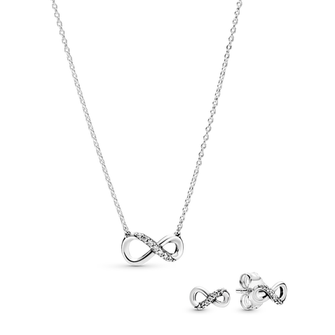 Eternity Necklace and Earrings set