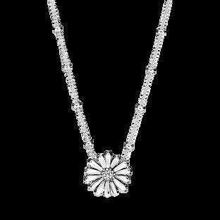 Pavé Daisy Flower Collier Necklace