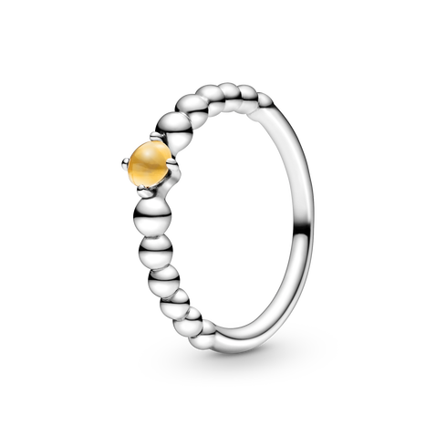 Honey Beaded Ring