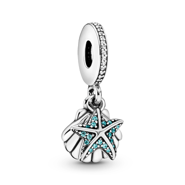 Starfish & Sea Shell Dangle Charm