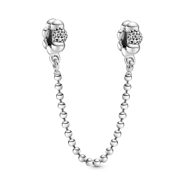 Beads & Pavé Safety Chain Charm