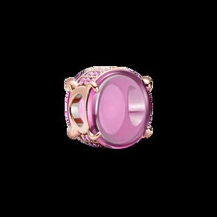 粉紅橢圓寶石串飾