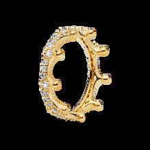 透明璀璨冠冕戒指