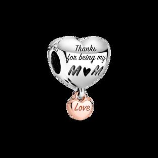 「Love You Mum」字樣心形串飾