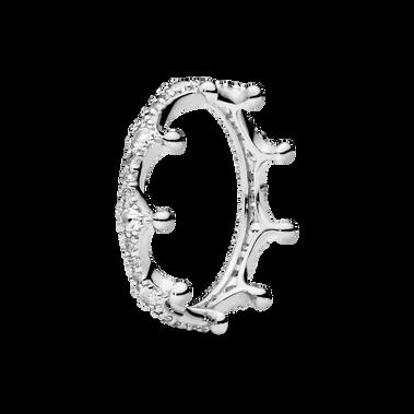 透明閃爍皇冠戒指