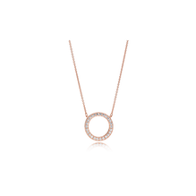 PANDORA Rose logo reversible collier with clear cubic zirconia and rose gold plating