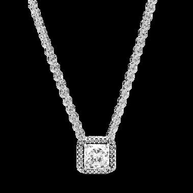 方形寶石璀璨光環項鏈