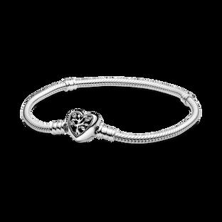 Pandora Moments 家族樹心形扣蛇形手鏈