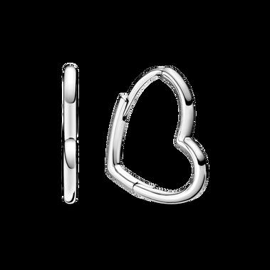 Asymmetrical Heart Hoop Earrings