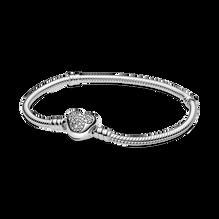 Pandora Moments 迪士尼米奇老鼠心形扣蛇形手鏈