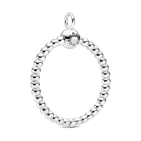 Pandora Moments Medium Beaded O Pendant