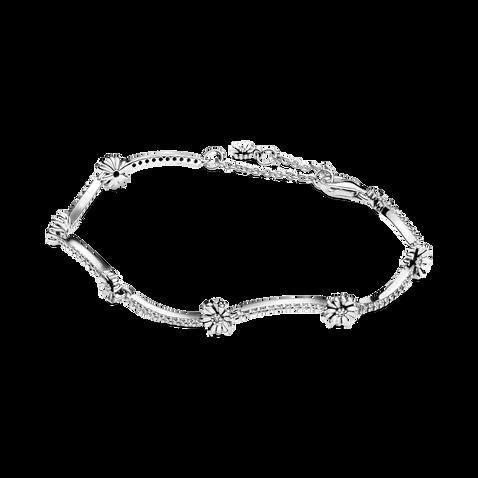 Sparkling Daisy Flower Bracelet