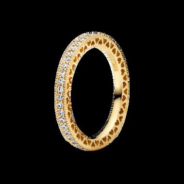 寶石配心形裝飾戒指