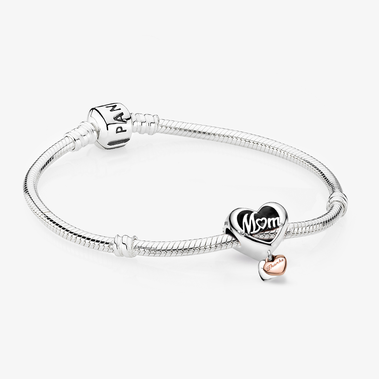 Thank You Mum Heart Charm Bracelet Set