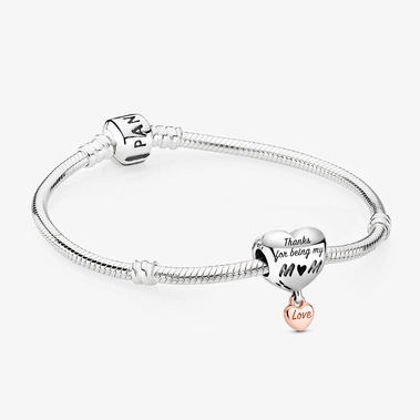 「Love You Mum」Heart Charm Bracelet Set