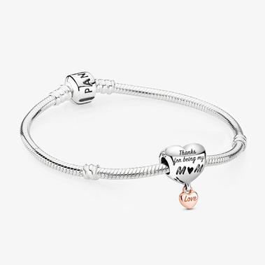 「Love You Mum」心形串飾手鏈套裝