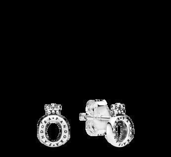 光滑 O 字形冠冕針式耳環