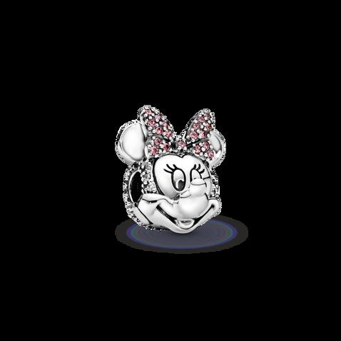 迪士尼米妮密鑲粉紅蝴蝶結固定夾