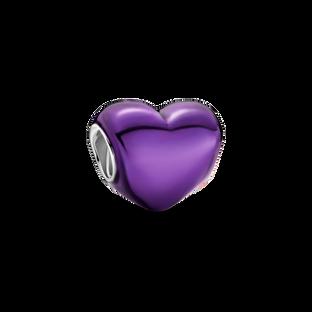 金屬紫心形串飾