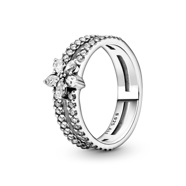 雪花輝耀雙圈戒指
