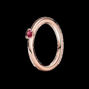紅色單石戒指