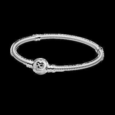 Pandora Moments 無限愛心飾扣蛇形手鏈