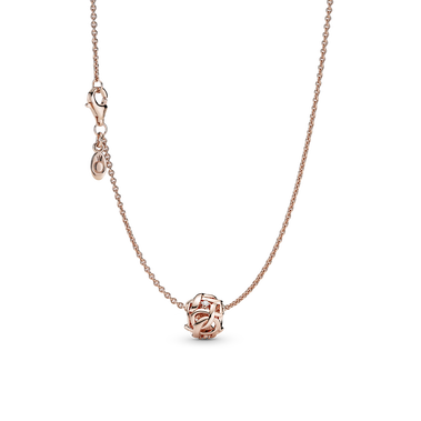 Openwork Woven Infinity Necklace Set