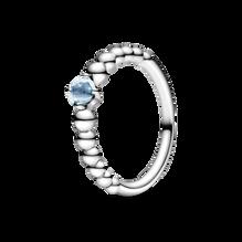 Aqua Blue Beaded Ring