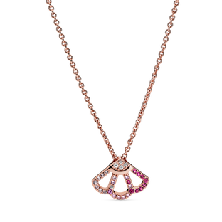 Pink Fan Collier Necklace