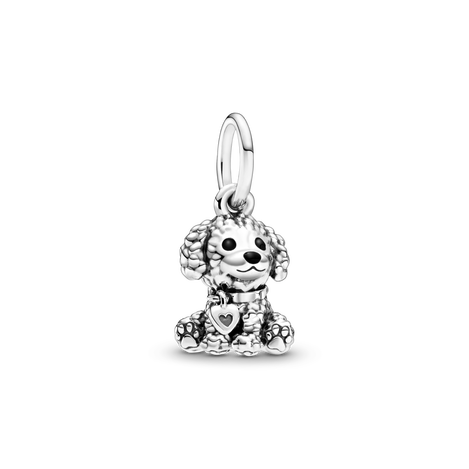 Poodle Puppy Dog Dangle Charm