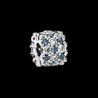 透明配藍色璀璨串飾